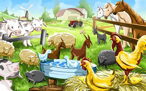 Farmyard Animal Wallpaper - farm animals wallpaper
