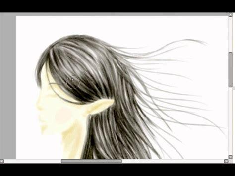 realistic hair  easy paint tool sai draw  hylian girl
