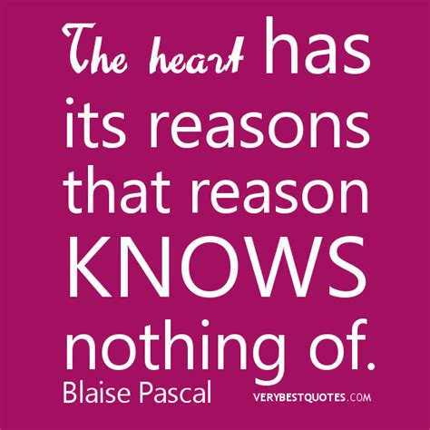 The Heart Blaise Pascal Quotes Quotesgram