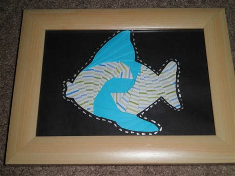 fish pattern iris folding frame  hope flickr