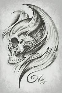 Skull Wings by J-King-21.deviantart.com | Tatoeages om na ...