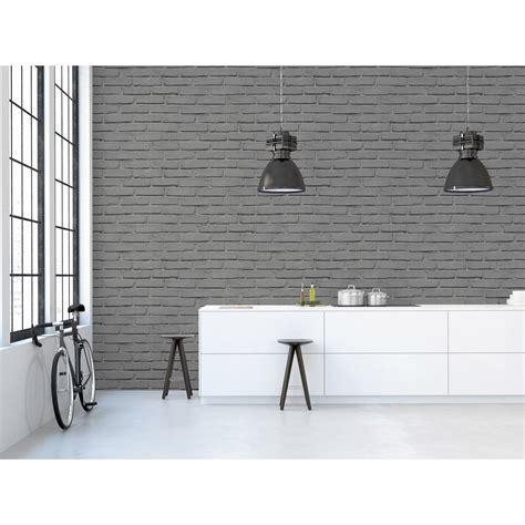 papier peint brique gris d 233 couvrez la tendance d 233 co 171 moderne design 1 187 par leroy merlin cr 233 ez un int 233 rieur lumineux