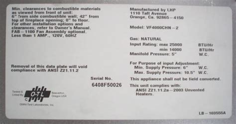 lennox hearth products recalls vent  gas logs