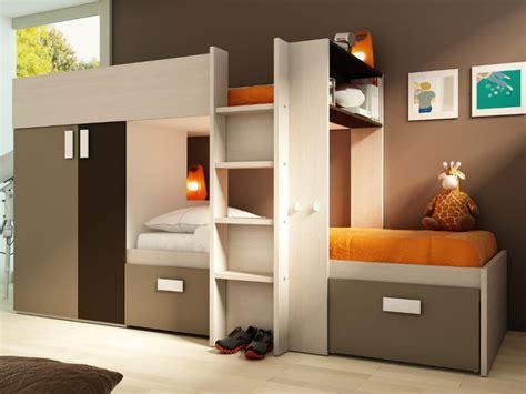 armoire pour chambre lits superposés julien 2x90x190cm option matelas