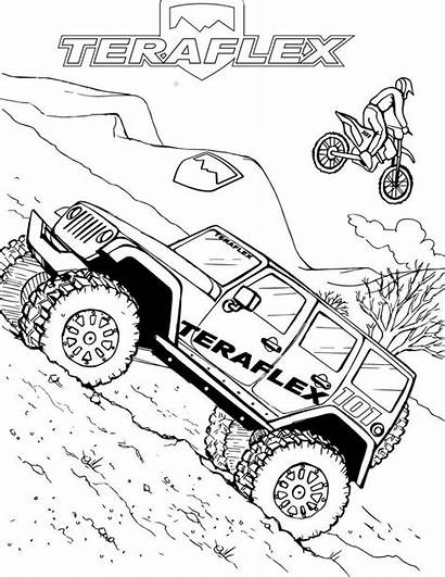 Coloring Jeep Pages Road Teraflex Cars Colouring