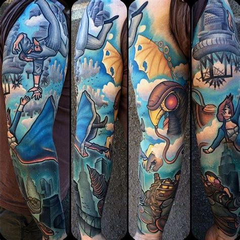 video game tattoos  men gamer ink designs