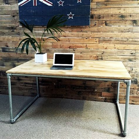 pipe desk plans diy plywood desk with pipe frame plans to build your own
