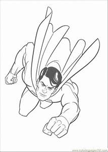 Coloring Pages Superman Is Flying In The Sky (Cartoons ...