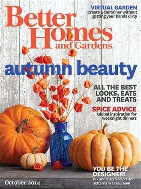 better homes and gardens magazine october 2014