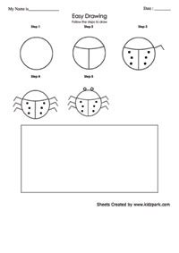 collections easy drawing worksheets