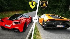 Ferrari Vs Lamborghini : ferrari 488 gtb vs lamborghini huracan sound exhaust pov drive youtube ~ Medecine-chirurgie-esthetiques.com Avis de Voitures