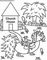 Coloring Church Sheets Bird Going Funny Printable Preschool Horse Children Toddler Sunday Coloringhome Popular Riding Looking Pulling Template Library Clipart sketch template