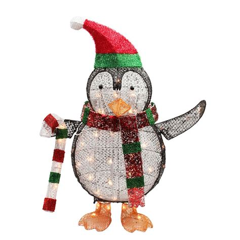 light up penguin christmas decoration penguin lighted yard displays wikii