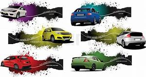 Six grunge Banners with cars. Vector illustration | Stock ...
