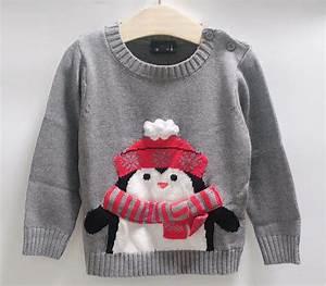 Children sweaters penguin design kids clothing 2-7 years ...