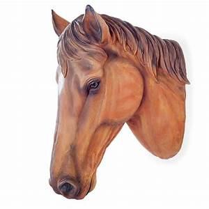 deco jardin tete de cheval murale marron achat vente With moulin a vent decoration jardin 13 puit decoratif pour jardin achat vente statue