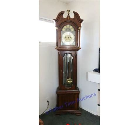 vintage ridgeway grandfather clock father time auctions