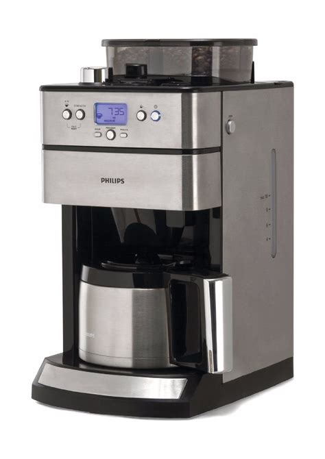 philips kaffeemaschine mit thermoskanne der hd7753 00 grind und brew mit timer und thermo philips im test