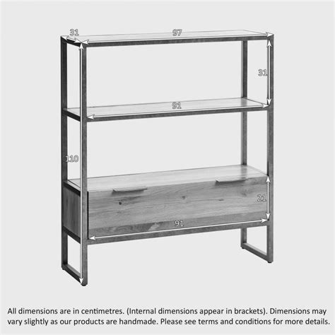Small Metal Bookcase by Metal Small Bookcase From The Range Oak