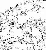 Bambi Coloring Pages sketch template
