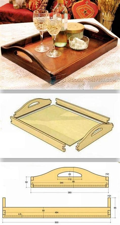 diy butler tray woodworking plans  projects