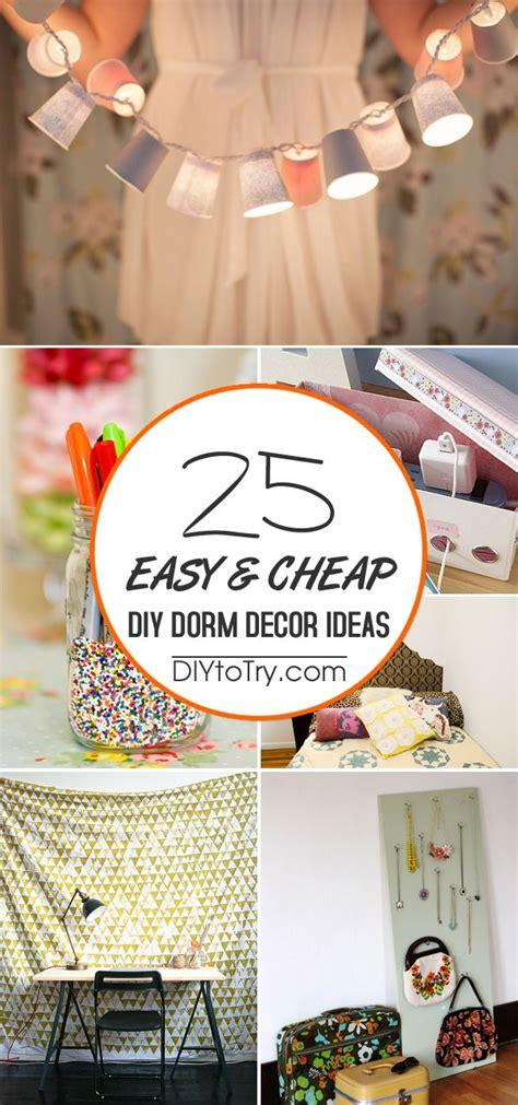 25 Easy & Cheap Diy Dorm Decor Ideas  Easy Diy Projects