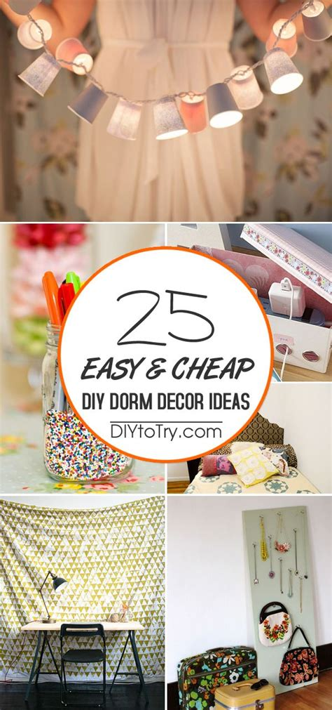 easy cheap diy dorm decor ideas easy diy projects
