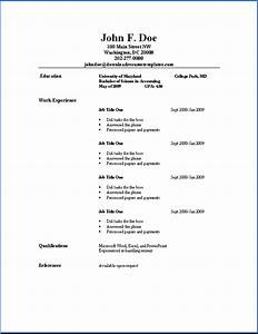 Basic Resume Templates