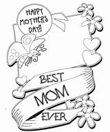 Mothers Coloring Pages Happy Printable Mother Sheets Cards Print Mom Colouring Breakfast sketch template