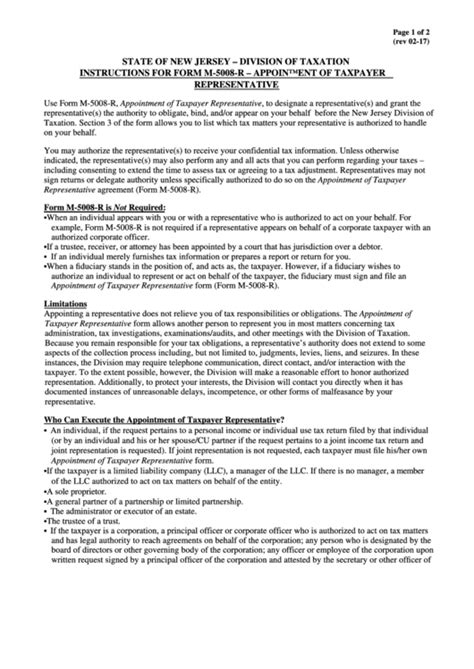 instructions  form    appointment  taxpayer