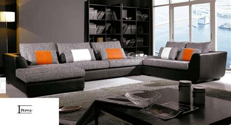 canapé panoramique tissu salon d angle tissu maison design modanes com