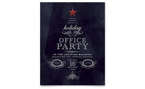 office flyer template word publisher - Free Office Christmas Party Flyer Templates