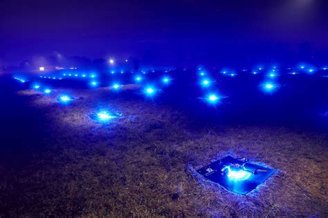 drone lights at night 100 dancing drones set world record iq by intel