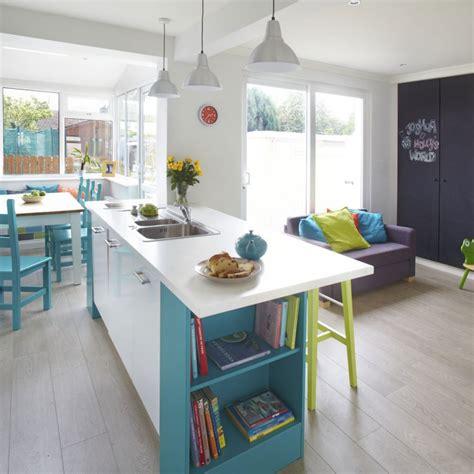Blue Kitchen Ideas - open plan kitchen design ideas ideal home