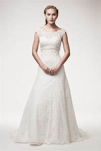 wedding dress lace a line ball gown short sleeve empire With a line empire waist wedding dress