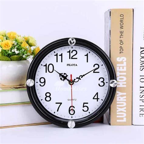 small wall clocks  whiteblack cheap kids plastic