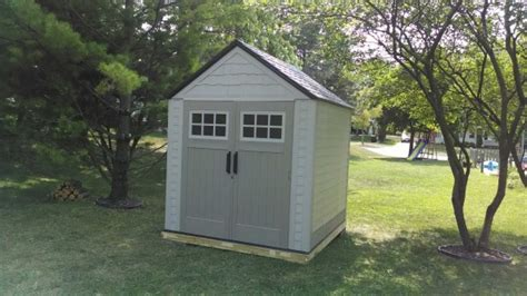 rubbermaid 7x7 shed help with foundation for 7x7 rubbermaid shed building