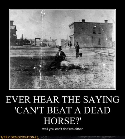 Beating A Dead Horse Meme - very demotivational horse page 10 very demotivational posters start your day wrong