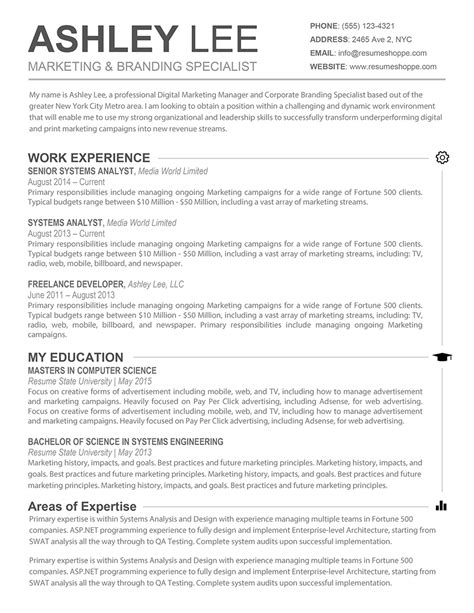 the resume creative resume for mac and word