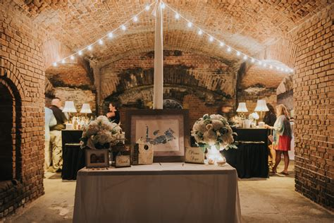 fort zachary taylor wedding  fortress reception