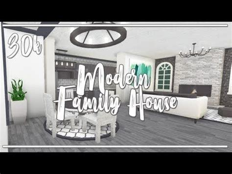 bloxburg ii modern  story  family house  gamepasses youtube house idea