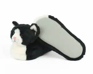 cat slippers black and white kitty slippers cat slippers