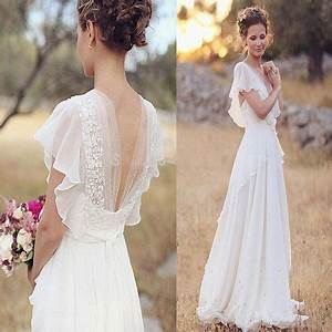 pas cher boheme 2016 robe de mariage perles col en v With robe pour mariage cette combinaison perle mariage
