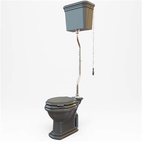 high tank toilet 3d model max obj 3ds fbx cgtrader