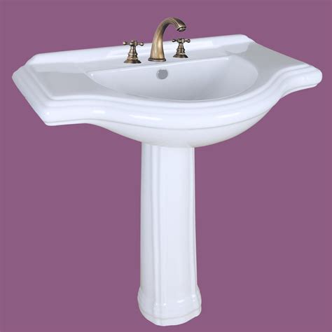 large pedestal sink bathroom console 8 quot widespread 34 quot w