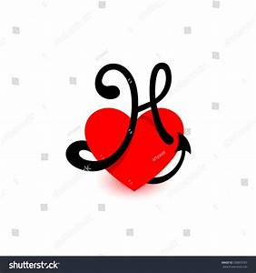 Logo Heart Letter H Beautiful Vector Stock Vector ...