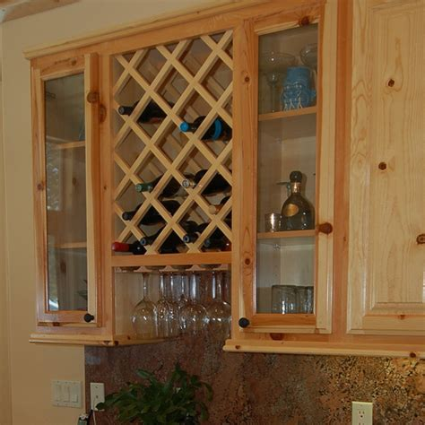 Kitchen Cabinet Wine Rack   Sosfund