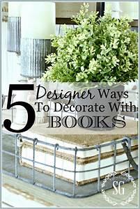 5, Designer, Ways, To, Decorating, With, Books