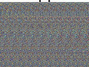 Single Image Random Dot Stereograms