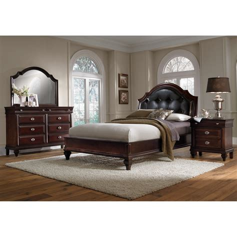 cherry bedroom sets manhattan 6 piece queen bedroom set cherry value city 11072 | 293165